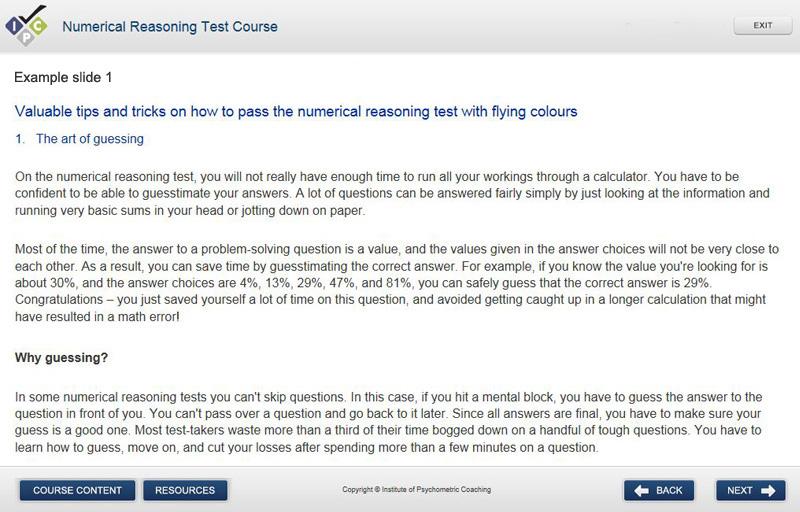 Practice numerical aptitude tests and numerical aptitude course