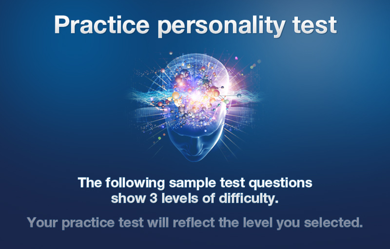 personality test questions answers pdf