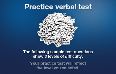 Practice verbal test Introduction
